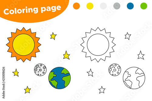 picture relating to Solar System for Kids Printable called Printable coloring website page with sunshine approach. Cartoon sunlight