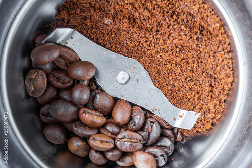 Slika na platnu A metal electric coffee grinder