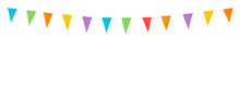 Party Flags Isolated On A Whit...
