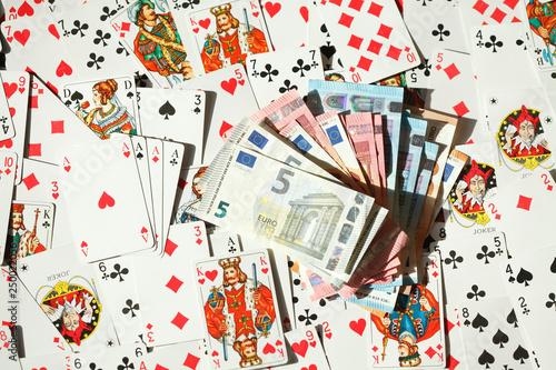 Obraz na plátně  Diverse Spielkarten