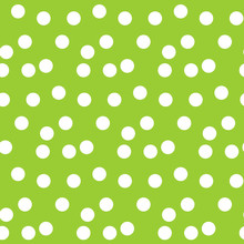 Green Background Random Scattered Circle Dots Seamless Pattern