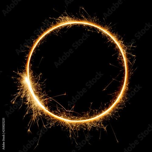 Obraz na plátně Shiny sparkler circle shape