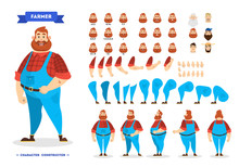Male Farmer Character Set For ...