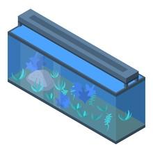 Office Aquarium Icon. Isometric Of Office Aquarium Vector Icon For Web Design Isolated On White Background