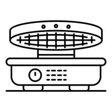 Waffle-iron Icon. Outline Waff...