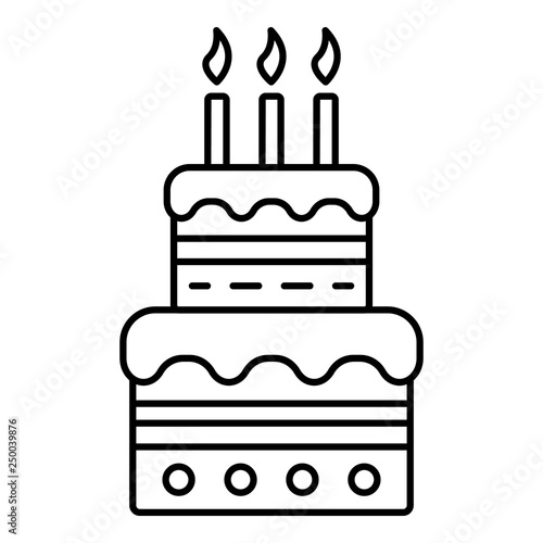 Marvelous Birthday Cake With Candles Icon Outline Birthday Cake With Birthday Cards Printable Trancafe Filternl