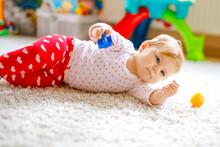 Little Cute Baby Girl Learning...