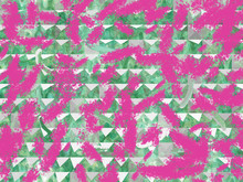 Abstract Pink And Green Digital Paint Art Wallpaper Design Background