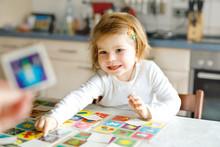 Adorable Cute Toddler Girl Pla...