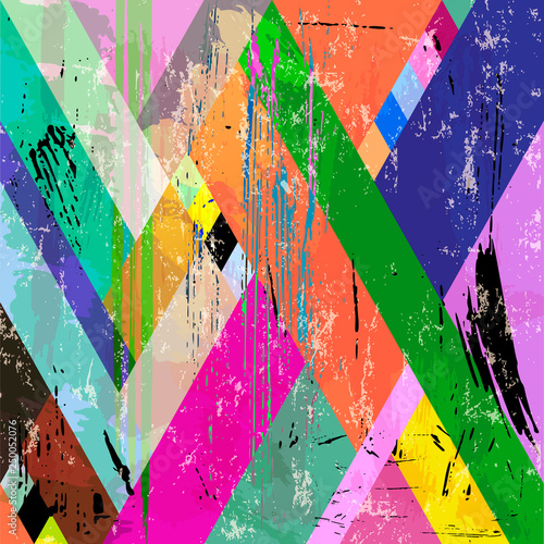 abstract geometric background composition, with strokes, splashes and triangles
