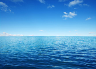 Blue sea water