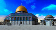 Leinwanddruck Bild - Dome of the Rock Islamic Mosque Temple Mount, Jerusalem, Israel, Middle East