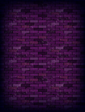 Purple Rectangle Brick Wall