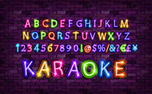 Color Neon Font Set.