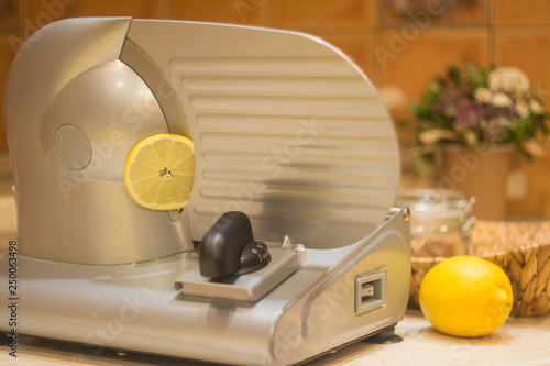 Fotografie, Obraz  Professional slicer for cutting products.