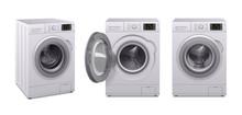 Washing Machine Realistic Icon Set