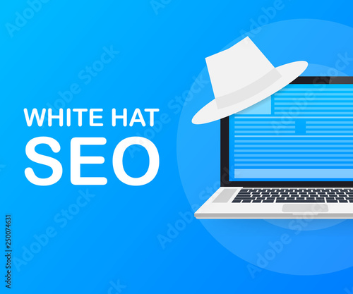 White hat seo banner  Magnifier, and other search engine