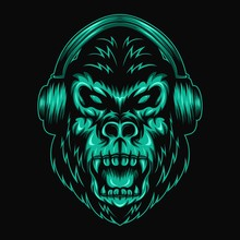 Gorilla Headphone Amazing Design For Your Company Or Brand