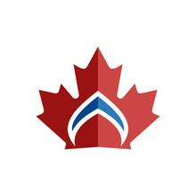 Canadian Leaf Crown Symbol Ele...