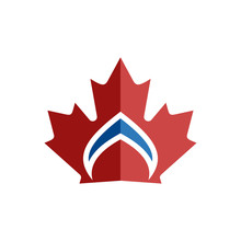Canadian Leaf Crown Symbol Element Logo