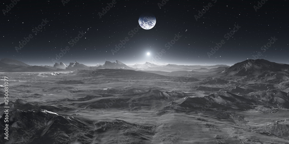 Fototapety, obrazy: Earth from the Moon