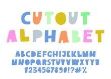 Cute Cutout Alphabet. Pastel C...