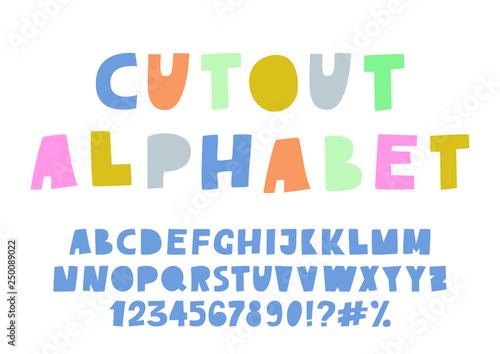 Cuadros en Lienzo  Cute cutout alphabet