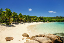 Sandy Beach On Drawaqa Island,...