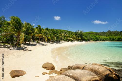 Fotografie, Obraz Sandy beach on Drawaqa Island, Yasawa Islands, Fiji