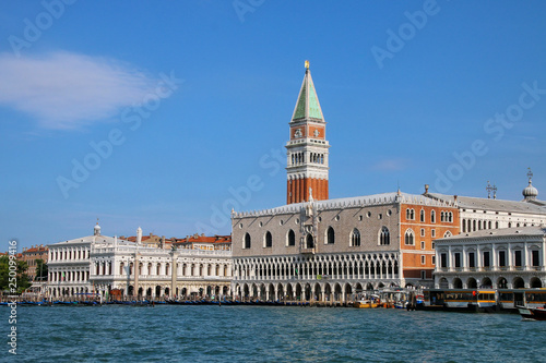 Fotografie, Obraz  View of Piazza San Marco with Campanile, Palazzo Ducale and Biblioteca in Venice