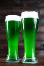 St. Patrick's Day. Glasses Of ...