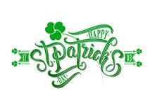 Happy Saint Patricks Day Typog...