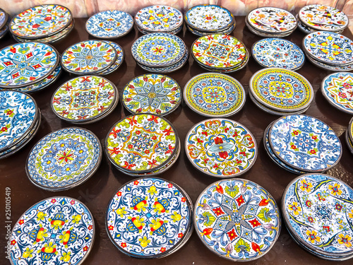 Fototapeta Pottery Shop In Mijas in the Mountains above the Costa del Sol in Spain