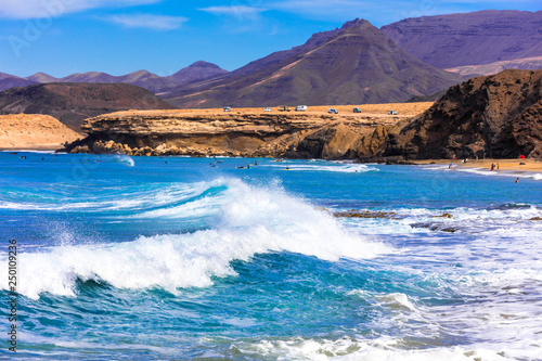Fuetevemtura - best beaches. Viejo Rey - popular for surfing. Canary islands