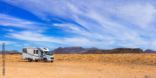 Fuertevetura holidays - travel with camper van. Canary island