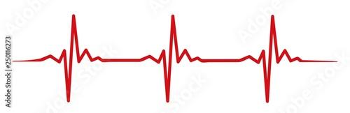 Fotografia red heartbeat #isoliert #vektor - Herzschlag