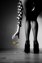 Beautiful Girl Legs And A Gla...