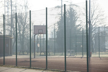 Modern Basketball Court In The...