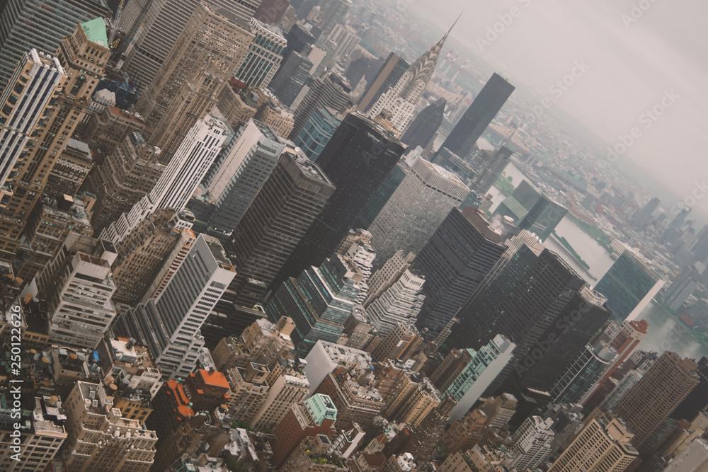 Fototapety, obrazy: new york city from above