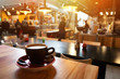 canvas print picture - Cappuccino in cafe