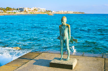 Statue Little Fisherman Paphos, Cyprus