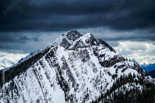 Snowy Mountain Peak in Banff, Canada