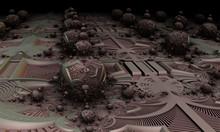 Alien Egg Farm Abstract Fractal Design - 3d Digitally Generated Render