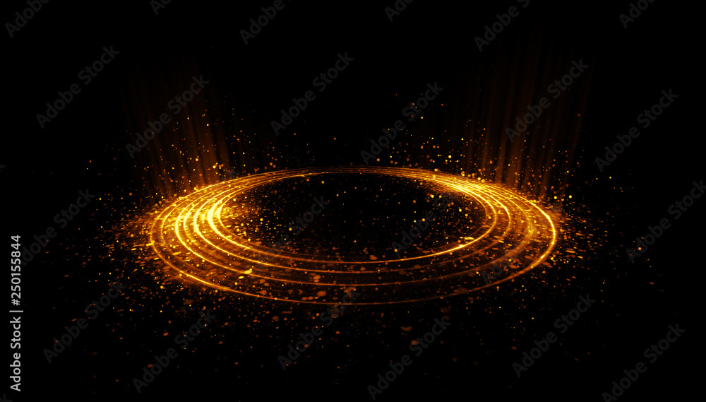 Fototapety, obrazy: Abstract background. Motion swirl. Glowing circle. Bright spiral. Glow podium. Empty Scene. Space tunnel. Light ellipse. Glint galaxy. Oval stage. Led studio. Lens flare. Glare ring. Show disc.