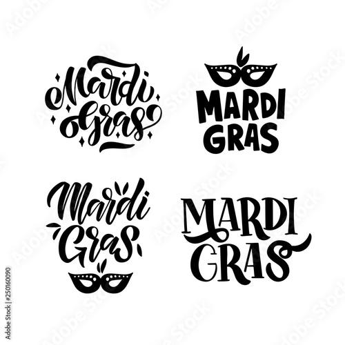 Carta da parati Mardi Gras lettering