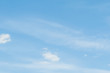 Soft clouds. Beautiful sky background. Blue sky with white clouds. Clear day and good weather.