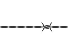 Barbed Wire Vector Illustration