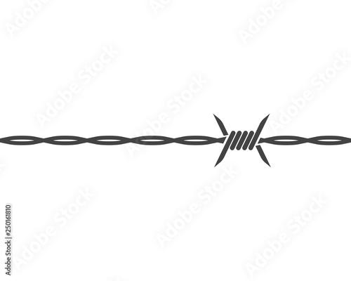 Fotografía barbed wire vector illustration