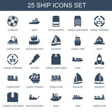 25 Ship Icons