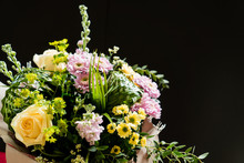 Nice Bouquet On The Black Background